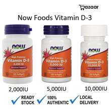 NOW Foods , Vitamin D-3, High Potency, 2000/5000/10000 Iu,120 Softgels