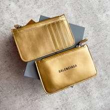 Balenciaga Card Wallet Black Ghw