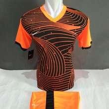 Jersey Baju Kaos Olahraga Setelan Bola Futsal Volly Nk 04 Hitam Orange