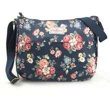 Cath Kidston Matt Oilcloth The All Day Bag Crossbody Handbag Forest Bunch Colour Navy 722377 - intl