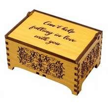 Unik Kotak Musik Kayu Besar Otomatis Foto Tulisan Hadiah Kado Ulang Happy Birthday Sale Box Music Pernikahan Wisuda Hadiah Kado