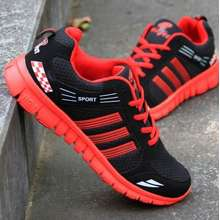 Taobao [Pre-Order] Summer Mens Ultra-Light Running Jogging Breathable Casual Travel Sports Shoes Size 40 Red (EU:40)