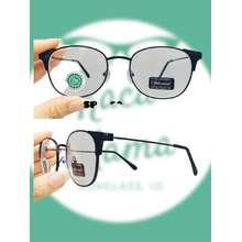 Kacamata Super (COD) Kacamata Minus Oval Terbaru (0.50 s/d 4.00) Wanita Pria Model Oval | Kacamata resep | Kacamata Baca Minus (-0.50, Hitam)