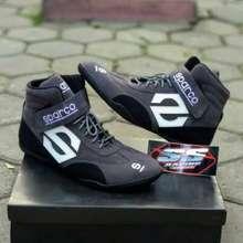 Sparco Sepatu Balap Drag Bike Race Touring Cornering Gokart Sepatu Sekolah