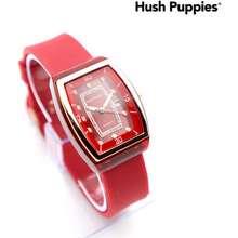 Hush Puppies Best Seller Jam Tangan Wanita / Cewek Segi Rubber 0833Mj Tanggal Aktif Free Box - Cod