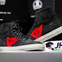 dainese Street Biker Air Shoes Carbon Dark Red - Original 100%