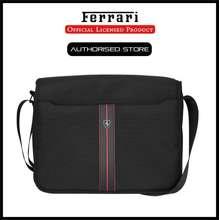 Ferrari URBAN COLLECTION - MESSENGER BAG 15 - BLACK