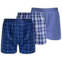 Jockey Woven Boxer M-Bxwhes119E074 Blue