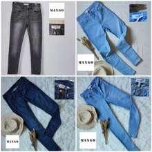 Mango Celana Wanita Preloved Original : Skinny Jeans Branded