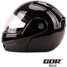 GDR A993-1 Modular Full Face Helmet (Large, PLAIN BLACK)