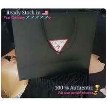 GUESS 🇲🇾🔥Ready Stock🔥 Women'S Paper Bag Handbag Tote Bag Shopping Bag Paper Bag