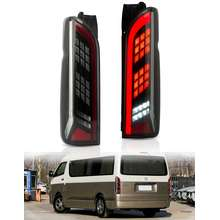 VLAND Toyota Hiace Tail Light Assembly for 2005-2018 Tail Rear Lights Lamp with Brake Reverse Sequential Running Turn Signal Plug and Play Hiace Accessories