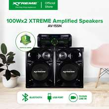 Xtreme 550Wx2 2.0CH Power Amplifier with PL Speaker Bluetooth FM USB SD Card Reader LED Display with VFD Display and Remote Control [AV-15SN]