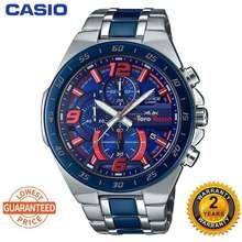 Casio (Ready Stock) Original Jam Tangan Lelaki Efr564 Chronograph Men Business Fashion Watch 100M Water Resistant Shockproof And Waterproof Full Auto-Calendar Stainless Steel Men'S Quartz Wrist Watches Efr-564Tr-2A With 2 Year Warranty