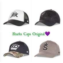 Sharks Caps Original Topi Baseball Trucker Pria Limited Edition