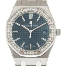 Audemars Piguet Royal Oak Automatic Diamond Blue Dial Ladies Watch 77351ST.ZZ.1261ST.01