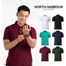 North Harbour Soft-Touch Polo Shirt - Black / White / Navy / Jade Dome / Forest Green / Maroon Nhb2400 Teemarket.My