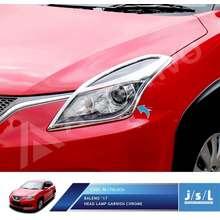 JSL Garnis Lampu Depan Baleno Hatchback 2017 Head Lamp Garnish Chrome