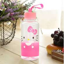 012daf790 Hello Kitty Silicone handle Water Bottle Made in Korea Waterbottle  Tablewear Dishware