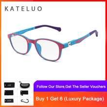 KATELUO COD + Pengiriman Gratis TR90 Anak-anak Kacamata Girls F1022 9e686b91cb