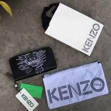 Kenzo Original Wallets Men Long Zipper Purse Ready Stok