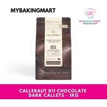 Callebaut 811 Finest Belgian Chocolate – Dark Callet / Dark Chocolate Recipe N° 811 - 1Kg (Original Packaging)