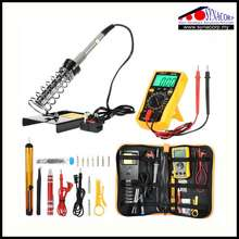 15-In-1 Portable 60W 220V Soldering Iron Kit With Adjustable Temperature Welding Solder Tool Hand Tool Sets & Digital Mu