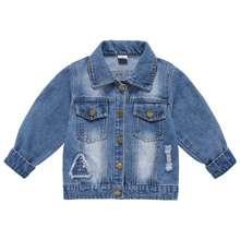 Ienens Toddler Baby Denim Clothing Coats Boys Casual Jacket Child Tops Coat