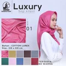Luxury Hijab Jilbab Kerudung Polos Merek Umama Hijab Cokelat