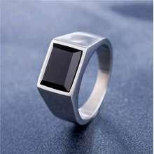 Onyx Cincin Pria Black Titanium