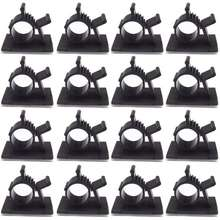 thinch 100Pcs Cable Clamp Wire Holder Clips Adjustable Adhesive LY0810 Type Cable Management Clips with Fixed