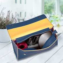 Bubm for Dyson/Dyson Hair Dryer Storage Bag Travel Dyson Storage Box Hair Dryer Storage Fashion Brand Buggy Bag Hair Curler Hair Dryer Storage Bag (Triangle have liner compartments Shilin Blue)