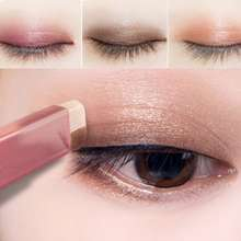 Novo Waterproof Dual Color Eyeshadow Stick High Color Rendering Apply Evenly Long-Lasting Stain Resistance Eye Shadow Stick For Students And Beginners Eye Makeup Pen Pembayang Mata 眼影棒
