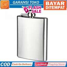 Indobest BAYAR DITEMPAT -  SILVER 8OZ MS351  Botol Minum Wine Flask Bentuk  Kotak   973cb2c517
