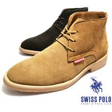 SWISS POLO Men High Top Suede Leather Desert Boots Shoes|Kasut Lelaki Chukka Boots