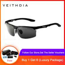 de8b90a4b7 VEITHDIA Aluminum Magnesium Brand Polarizerd Mens Sunglasses Sun Glass  Mirror Eyewear for Men 6576