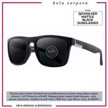 Quicksilver Kacamata Hitam Pria Mattle Black Original Black Mattle
