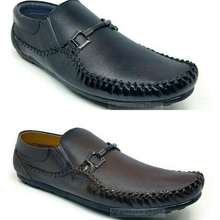 Keyton Sepatu Loafers Mocasin Kulit Pria Jls - 962 Maroon Dan Black 100% Asli Kulit