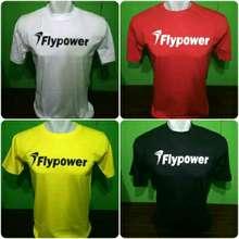 Flypower Kaos Tshirt Badminton Kaos Distro Badminton Maroon Xxl