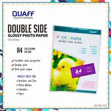 QUAFF A4 Size Double Sided Glossy Photo Paper 120Gsm - 300Gsm (50 Sheets / Pack)