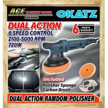 "OKATZ 6""/150Mm Dual Action Random Orbit Polisher 720W Model: Dps150"