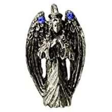 Angel Azure Green Praying Angel Amulet