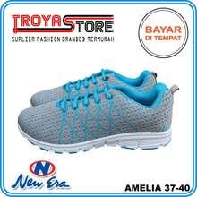 New Era TROYASTORE - Sepatu Wanita Murah AMELIA Original   Sepatu Sport  Wanita Abu Biru   8cf0567833