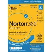 Norton 360 Deluxe 2021 - 1 Year 3 PC Device - Download - Windows 7 8 10 Home Pro Professional Ultimate Mac IOS Android Internet Security Antivirus Tablet Murah Huawei Samsung Lenovo Activation License Key Fast Delivery via Email