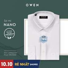 Owen - ÁO Sơ Mi TrắNg ChấT Nano Không Nhăn (Regular/Slim)