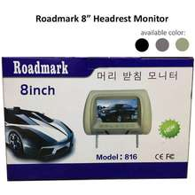 Road Mark Broz Roadmark 8 Headrest Monitor TFT LED Monitor With Universal Mounting Pillow With Zipper Black