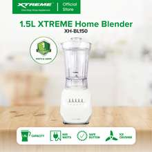 Xtreme HOME 1.5L Blender BPA-Free 2 Layer of 4 Detachable Blades Anti-Slip Mat Interlock Protection 4 Speed with Pulse Function (White base) [XH-BL150]