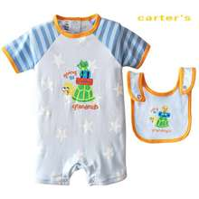1fa8a4148d86 Carter s Baby Romper with bib Jc 3192 .