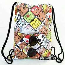 Emoji Stringbag Tas Jaring Tas Serut Brick Standard
