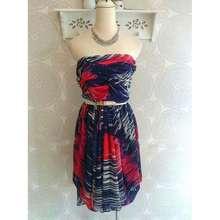 Karen Millen Printed Tube Dress (UK10)
